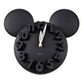Modern Design Mickey Mouse Big Digit 3D Wall Clock Home Decor Decoration ()