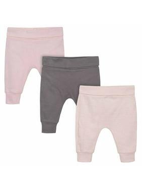 Gerber Baby Girl Pants, 3pk