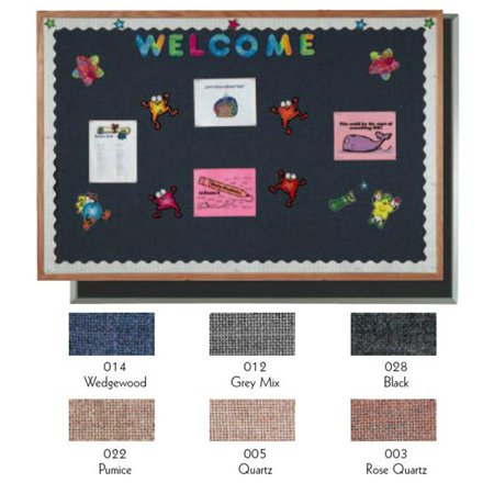 Fabric Photo Board (Aarco Products OF4896005 Designer Fabric Bulletin Board Oak Frame - Quartz)