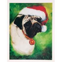 6 Pug Boxed Christmas Greeting Cards