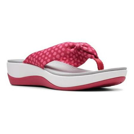 8bbad7deba28 Clarks - Arla Glison Cloudsteppers Tonal Flip Flops - Walmart.com