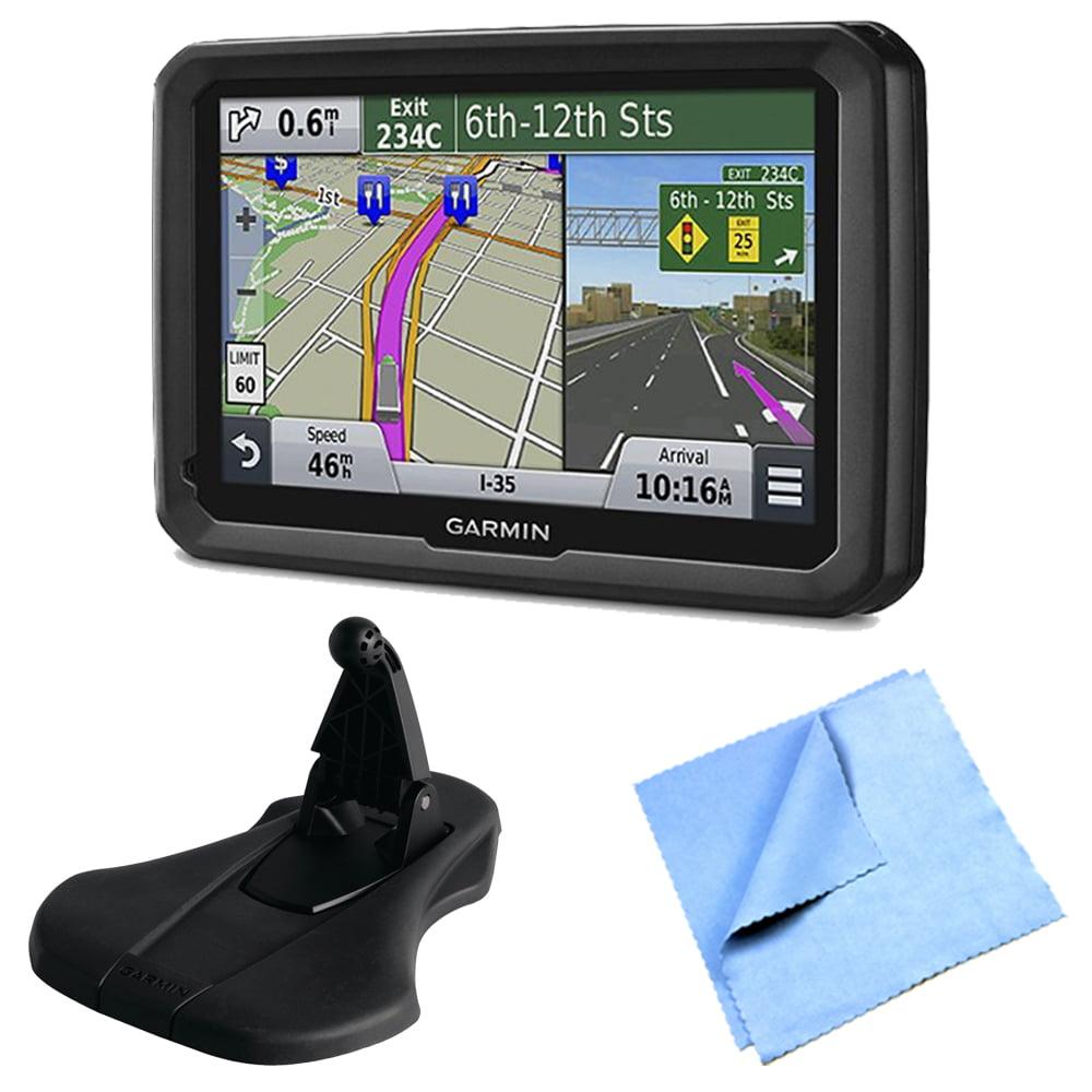 "Garmin dezl 570LMT 5"" Truck GPS Navigation w Lifetime Map Traffic Friction Mount Bundle"