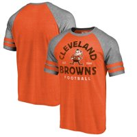 new product adb91 57a99 Product Image Cleveland Browns NFL Pro Line by Fanatics Branded Timeless  Collection Vintage Arch Tri-Blend Raglan