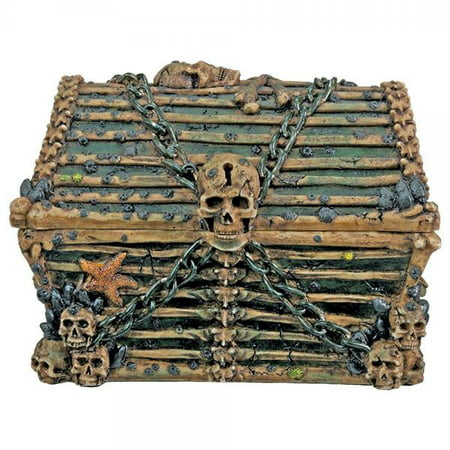 Davy Jones Chest  Collectible Pirate Decoration Skeleton Container