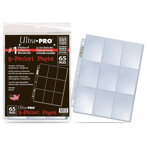 UltraPRO Pages for Cards, 65-Pack