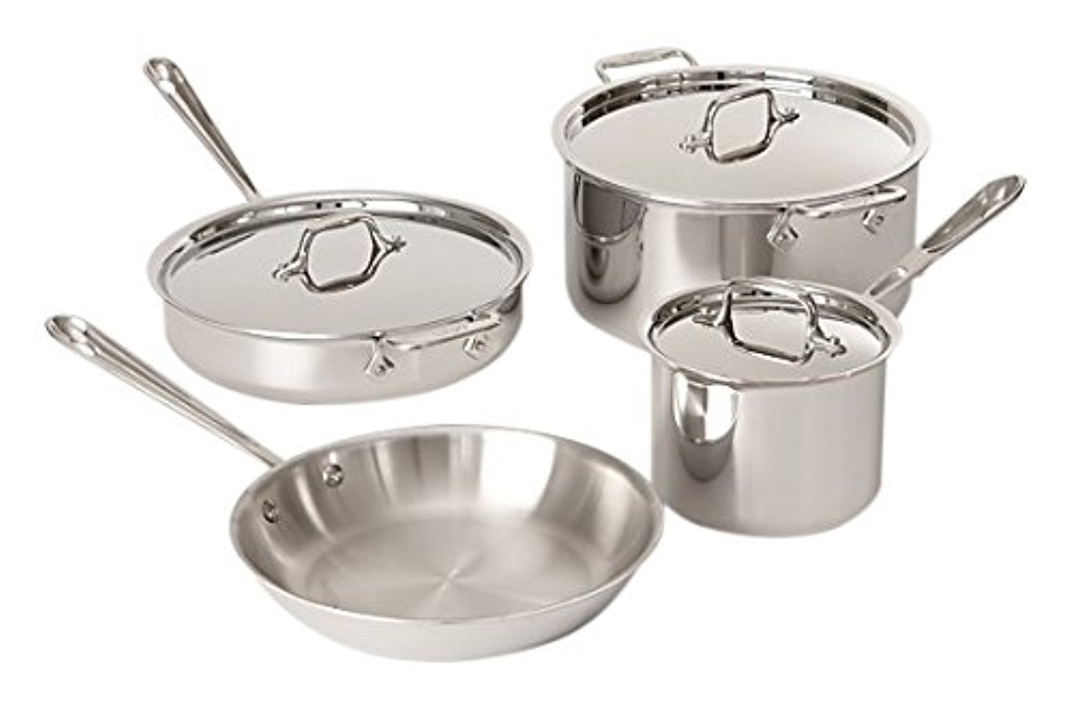 All-Clad Tri-Ply Stainless Steel 7 Piece Cookware Set by All-Clad