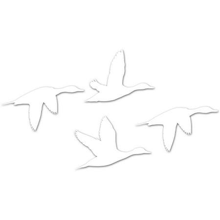 Wildlife White Vinyl Die Cut Decal, 6
