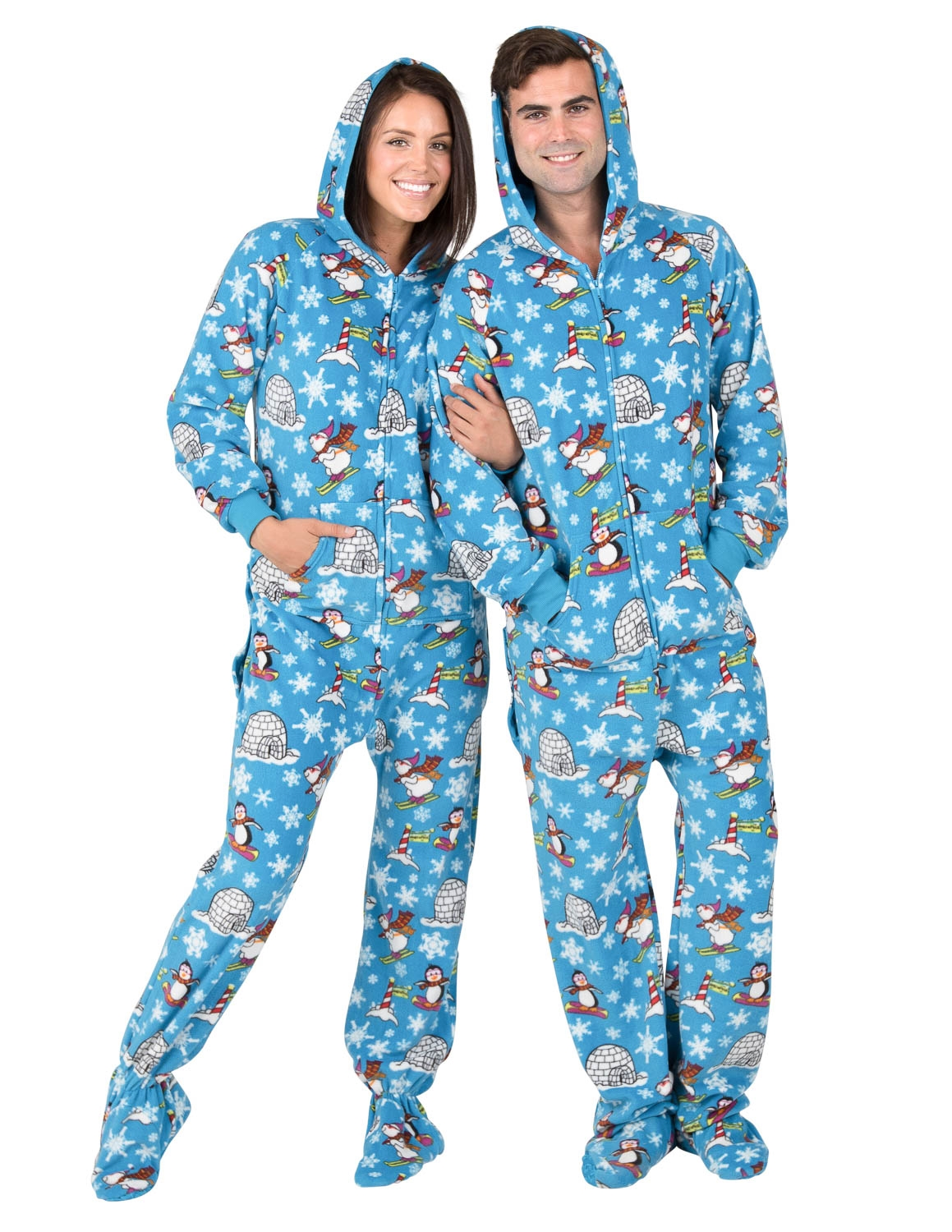 77d605ff6e88 Footed Pajamas - Footed Pajamas - Winter Wonderland Adult Hoodie ...