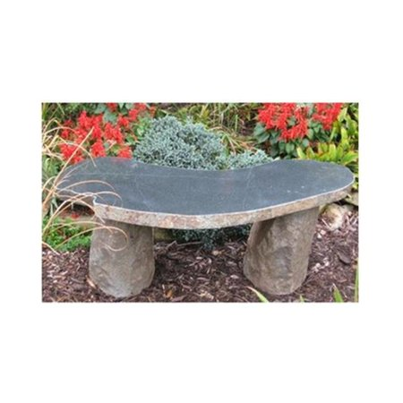 Stone Age Creations BE-BO-1C Curved Boulder Bench