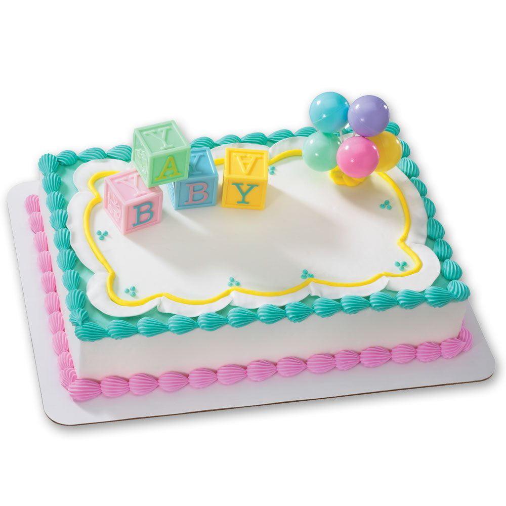 B A B Y Blocks Decoset Cake Decoration 4 Dimensional Blocks In Soft
