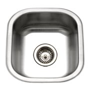 Houzer MS-1708-1 Club Series Undermount Stainless Steel Square Bowl Bar/Prep Sink