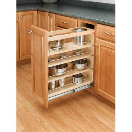 Rev-A-Shelf  448-BC-6C  Pull Out Organizers  448  Base Cabinet Organizers  Shelves  tural Wood