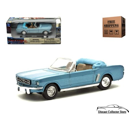 1964 1/2 Mustang Convertible NEWRAY Diecast 1:43 Scale Blue FREE SHIPPING ()