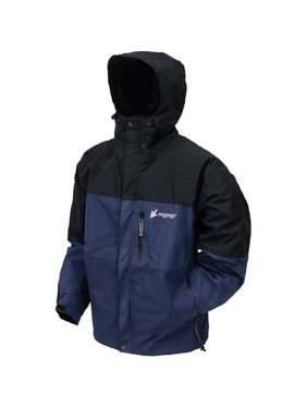 Frogg Toggs Youth Toad Rage Waterproof Rain Jacket - Small, Blue/Black