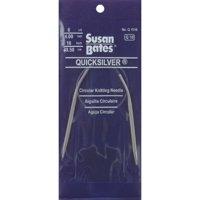 "Susan Bates Quicksilver Circular Knitting Needles 24""-Size 9/5.5mm"