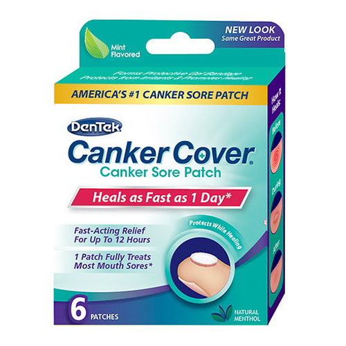 DenTek Canker Cover Canker Sore Patch, Mint, 6 patches, 6 Pack