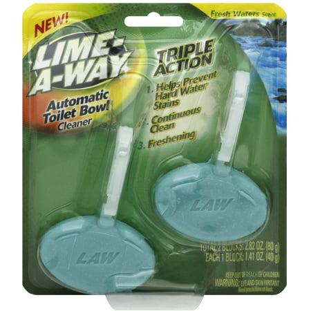 Lime A Way Automatic Toilet Bowl Cleaner Fresh Waters 2 Count