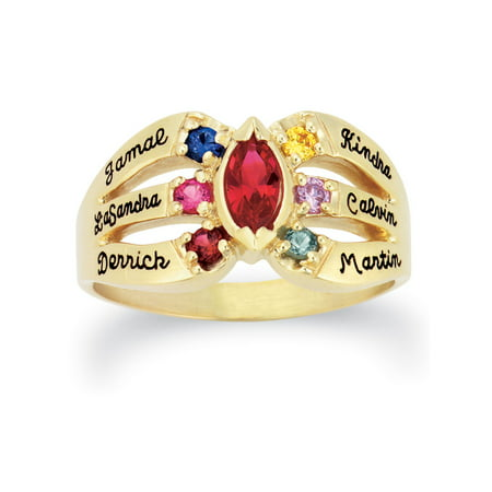Personalized Family Jewelry Everlasting Mother's Birthstone Ring available in Gold over Sterling Silver, 10kt and 14kt Yellow and White Gold