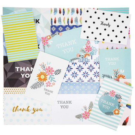 Best Paper Greetings 36-Pack Bulk Thank You Note Cards, 36 Assorted Notecard Designs and White Envelopes, 4 x 6 (Best Greeting Card App)