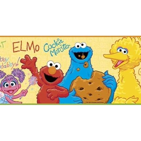 Sesame Street Wall Border Wallpaper Elmo Bird Baby Nursery Room Decor