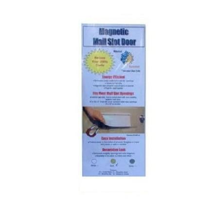 - Battic Door Magnetic Mail Slot Cover in White