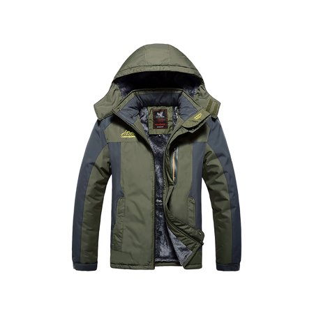 67fd24276 Outdoorjacket - Men's Mountain Waterproof Ski Jacket Windproof Rain Jackets  Plus Size - Walmart.com