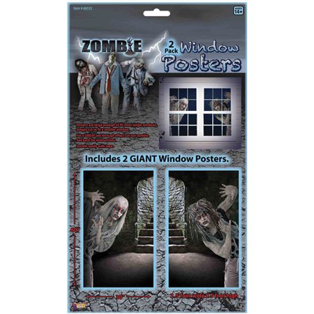 Morris Costumes Spooky Zombie Clings Window Covers Decorations & Props, Style FM66533