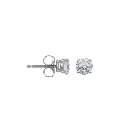 Luxsly - 14K White Gold 1 2 Carat Diamond Stud Earrings - Walmart.com 1f3ab6a356