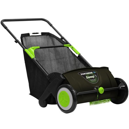 "Earthwise 21"" Push Lawn Sweeper, 2.6 Bushel Collection Bag, LSW70021"