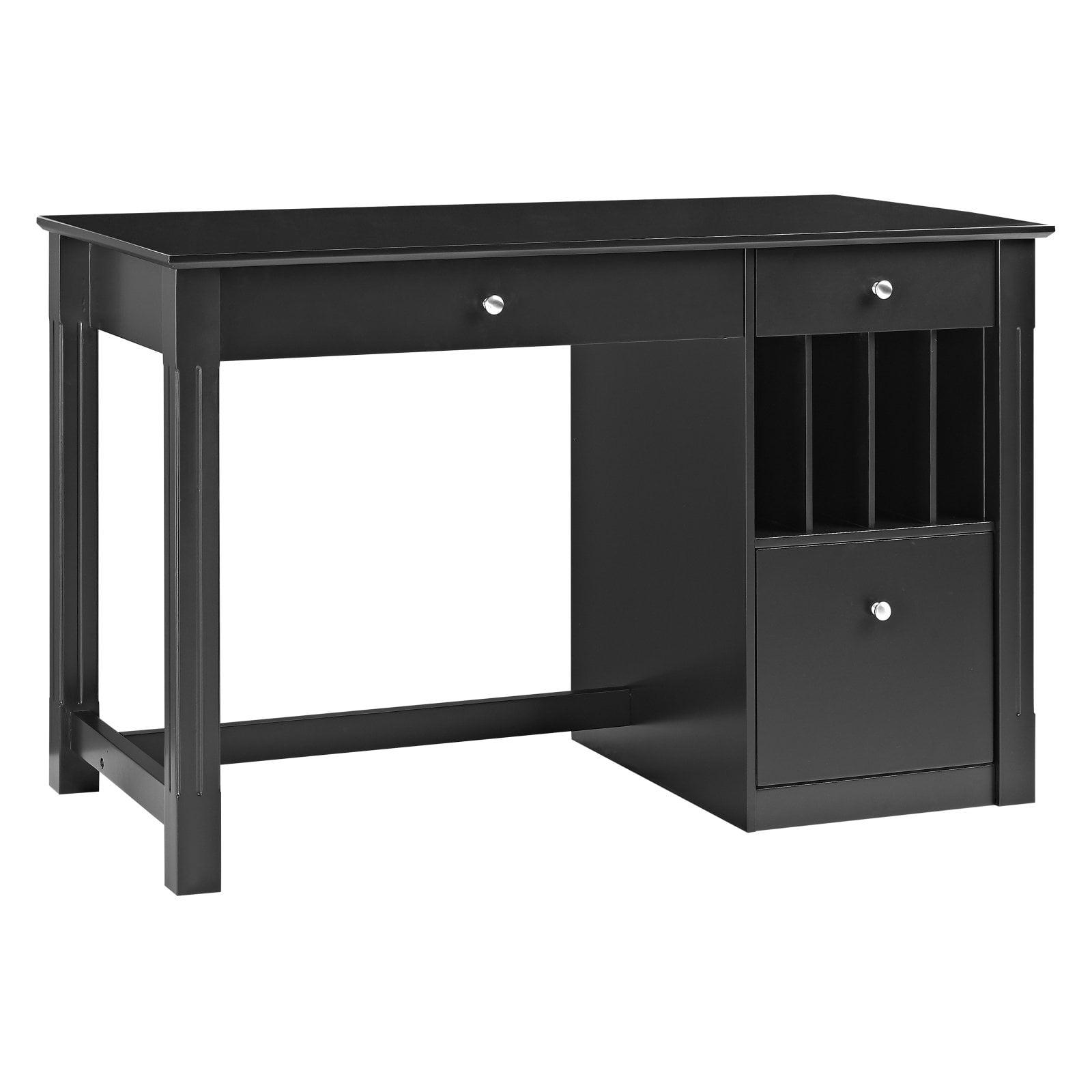 Walker edison home office deluxe wood storage 48 in computer desk walmart com