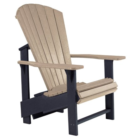 Beige Crackle Finish - CR Plastic Generations Upright Adirondack Chair