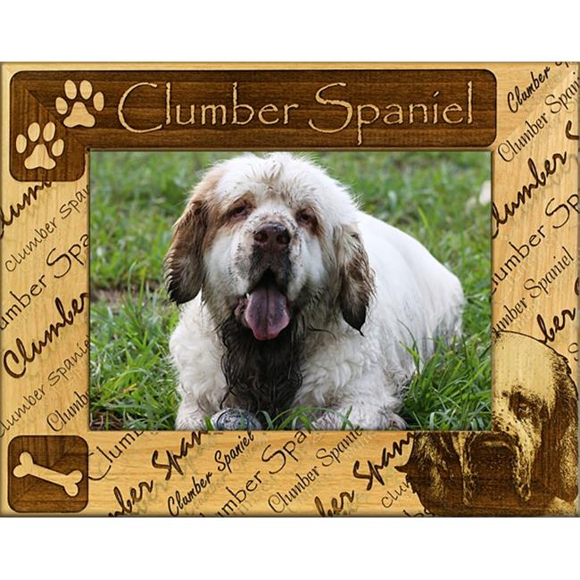 Giftworks Plus DBA0056 Clumber Spaniel, Alder Wood Frame, 5 x 7 In