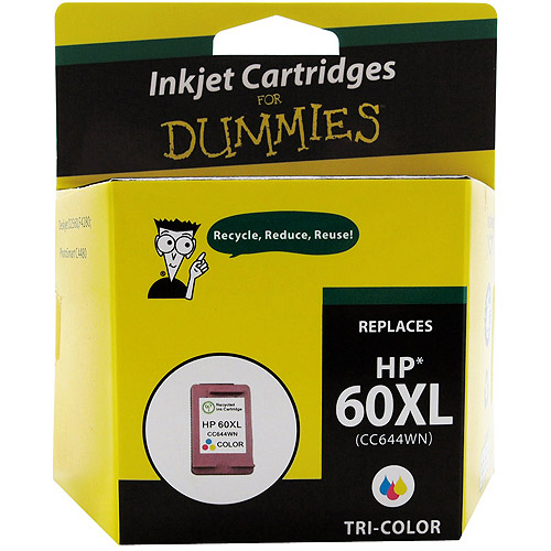 For Dummies Remanufactured Hewlett Packard 60XL Tri-Color Inkjet Cartridge