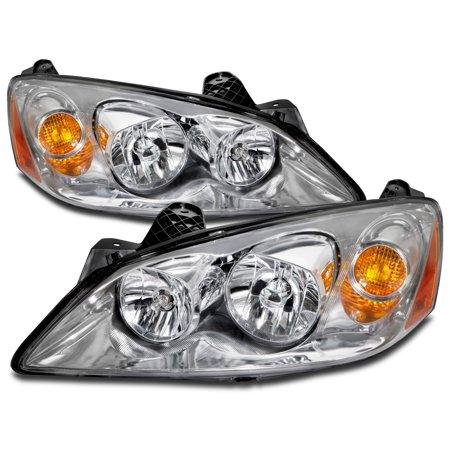 2005-2009 Pontiac G6 Headlight Set w/Xenon Bulbs Headlamp Pair Assembly