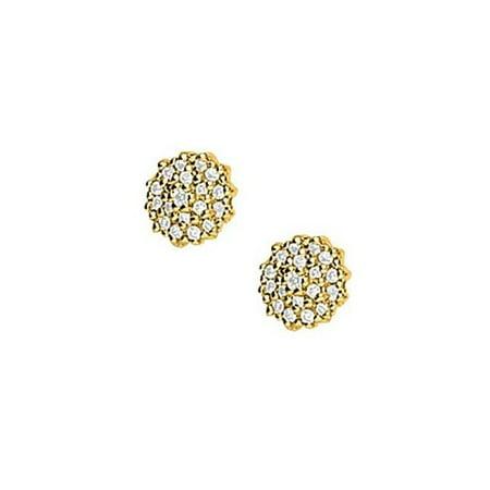 UBNER40086Y14D 1 Carat Diamonds Earrings in 14K Yellow Gold