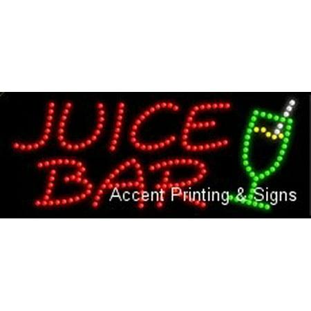 - Juice Bar, Logo LED Sign (High Impact, Energy Efficient)