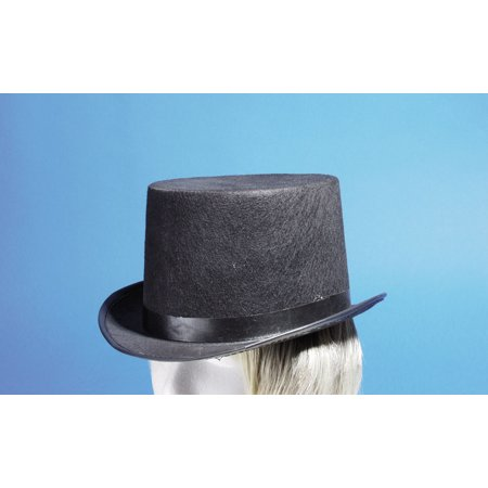 Loftus Felt Steampunk Adult Costume Top Hat with Band , Black, One Size