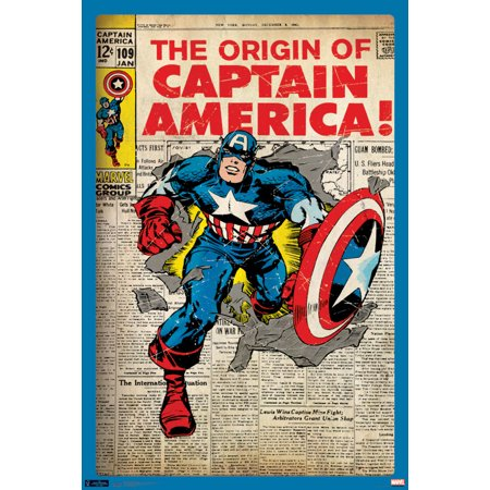 Captain America Poster (Trends International Captain America Cover Collector's Edition Wall Poster 24