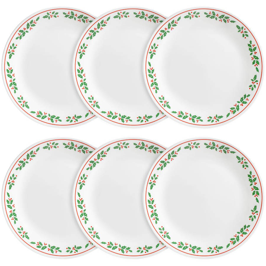 Corelle Livingware Dinner Plate Winter Holly Set of 6  sc 1 st  Walmart.com & Corelle Livingware Dinner Plate Winter Holly Set of 6 - Walmart.com