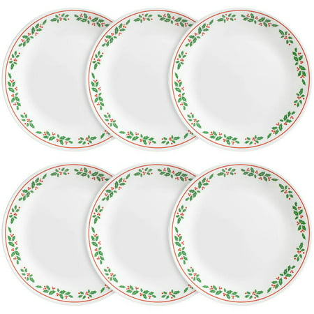 Corelle Livingware Dinner Plate, Winter Holly, Set of 6 - Walmart.com