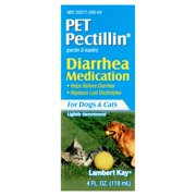 Lambert Kay Pet Pectillin Pectin & Kaolin Diarrhea Medication for Dogs & Cats, 4 fl oz