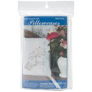 "Fairway Needlecraft Mare And Foal Stamped Perle Edge Pillowcase Pair, 30"" x 20"""
