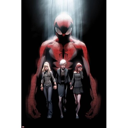 Ultimate Fallout No.1 Cover: Spider-Man, Gwen Stacy, May Parker, and Mary Jane Watson Poster Wall Art By Mark - Spider Man Gwen