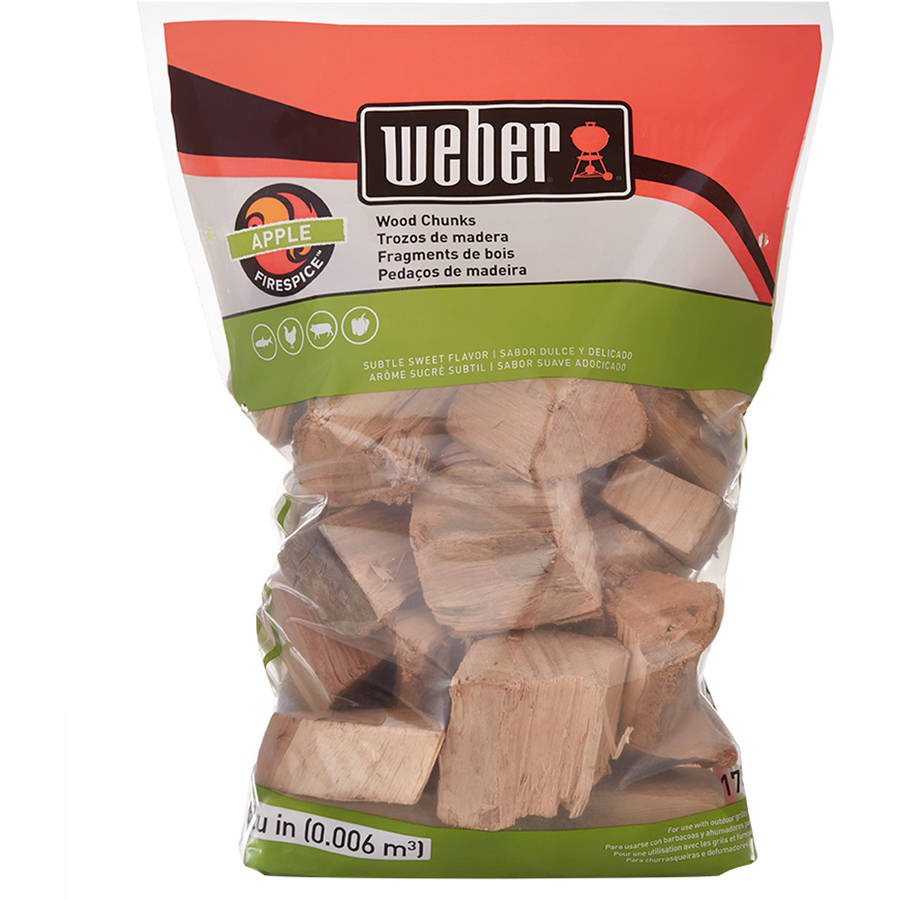 Weber Apple Wood Chunks, 350 Cu. In. bag