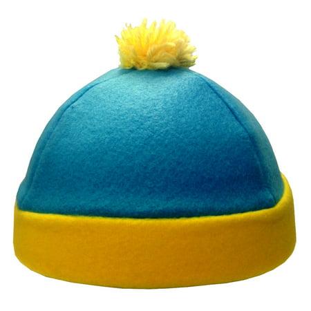 Halloween Winter Park (Eric Cartman South Park Costume Hat Blue Yellow Fleece Winter Ski Cap TV)