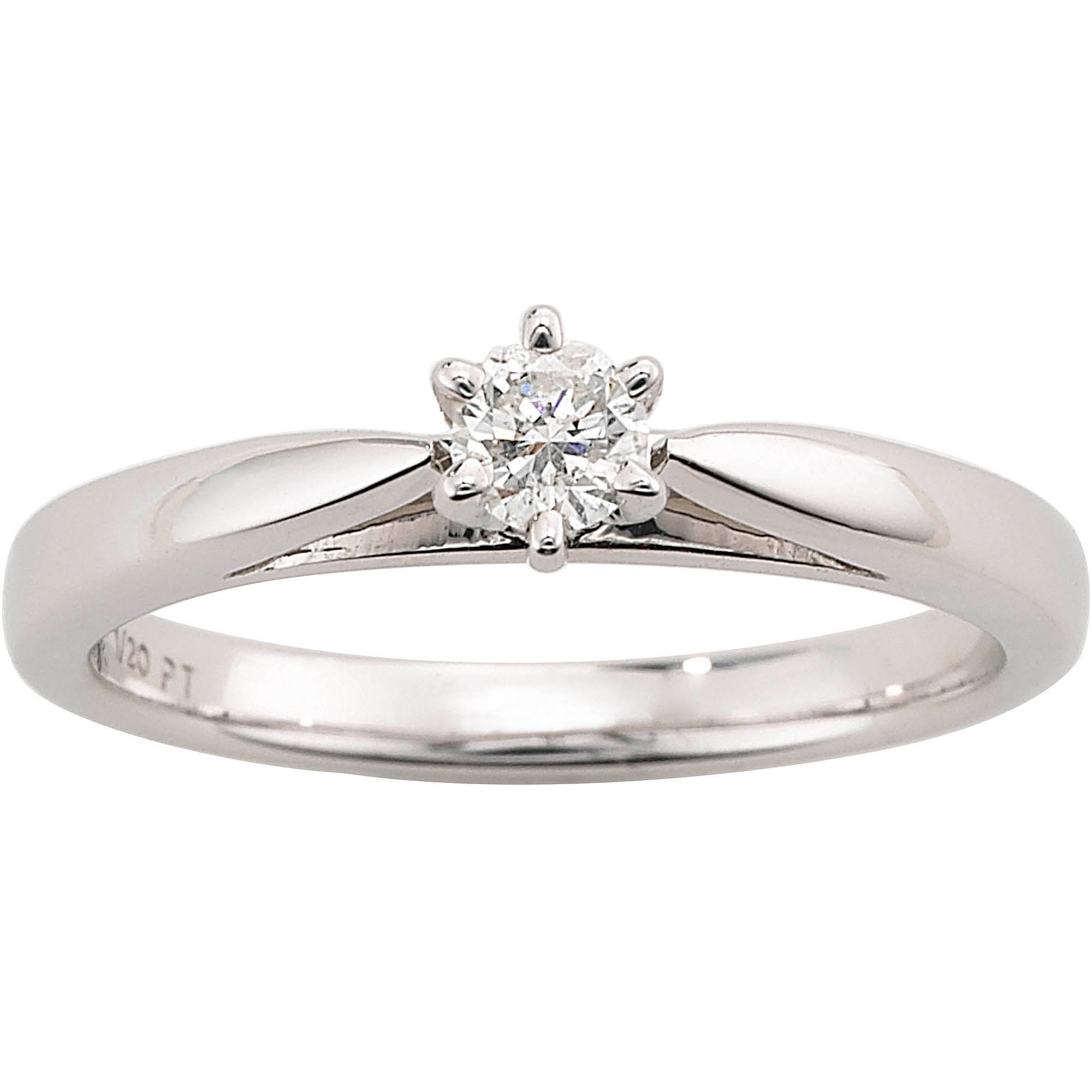 Always & Forever Platinaire 1/5 Carat Diamond Round Solitaire  Engagement Ring