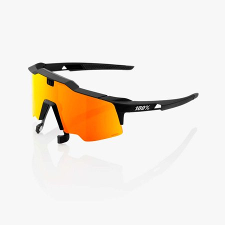 100% Percent Speedcraft Air Sunglasses - Soft Tact Black - HiPER Red Multilayer Mirror - (Speedcraft Sunglasses)