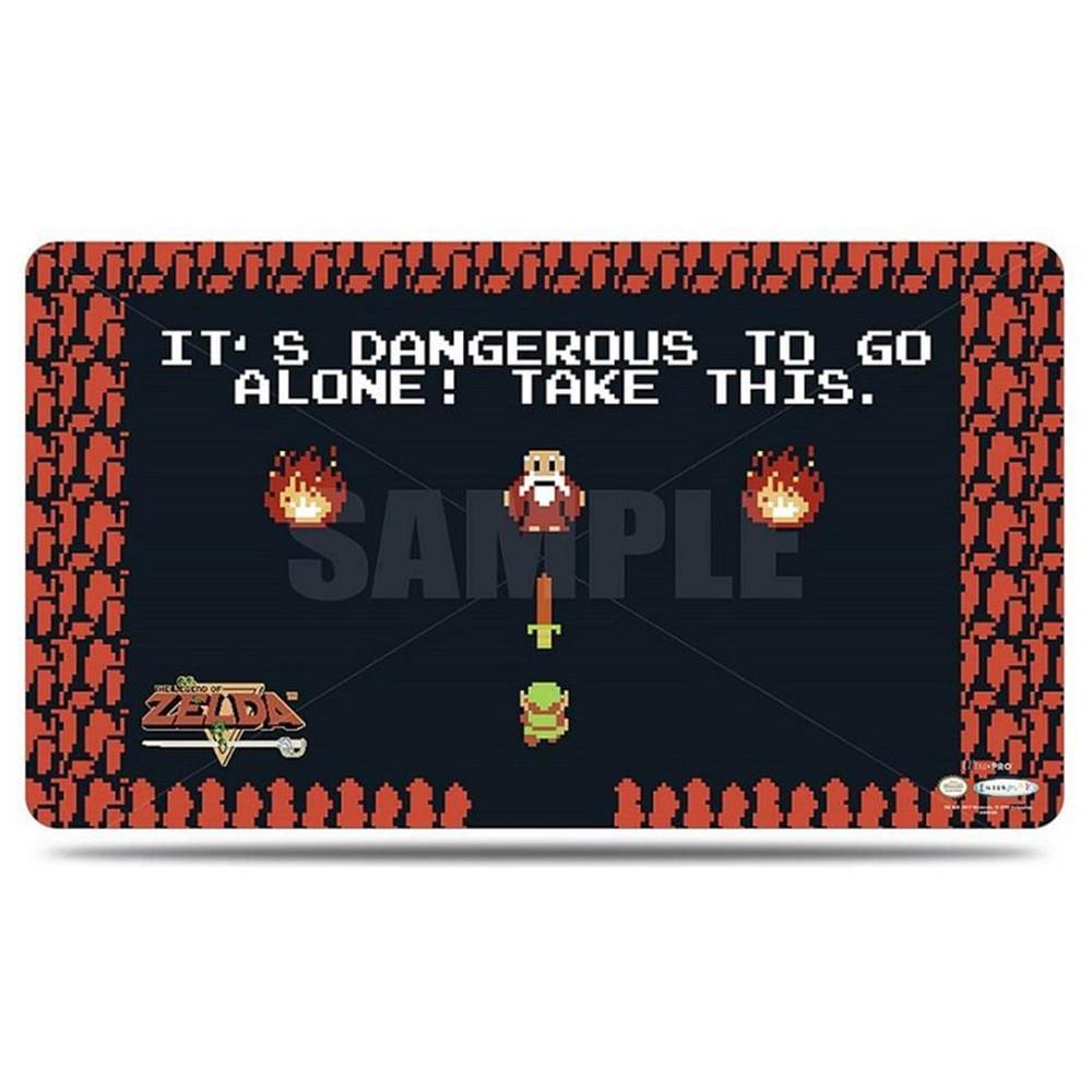 Play Mat Legend of Zelda Dangerous To Go Alone w/Playmat Tube Ultra Pro ULP85440