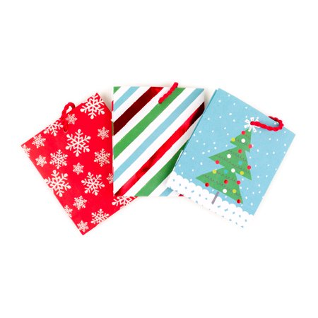 Hallmark Holiday Gift Card Holders (Tree, Snowflake, Stripes, Pack of 3)