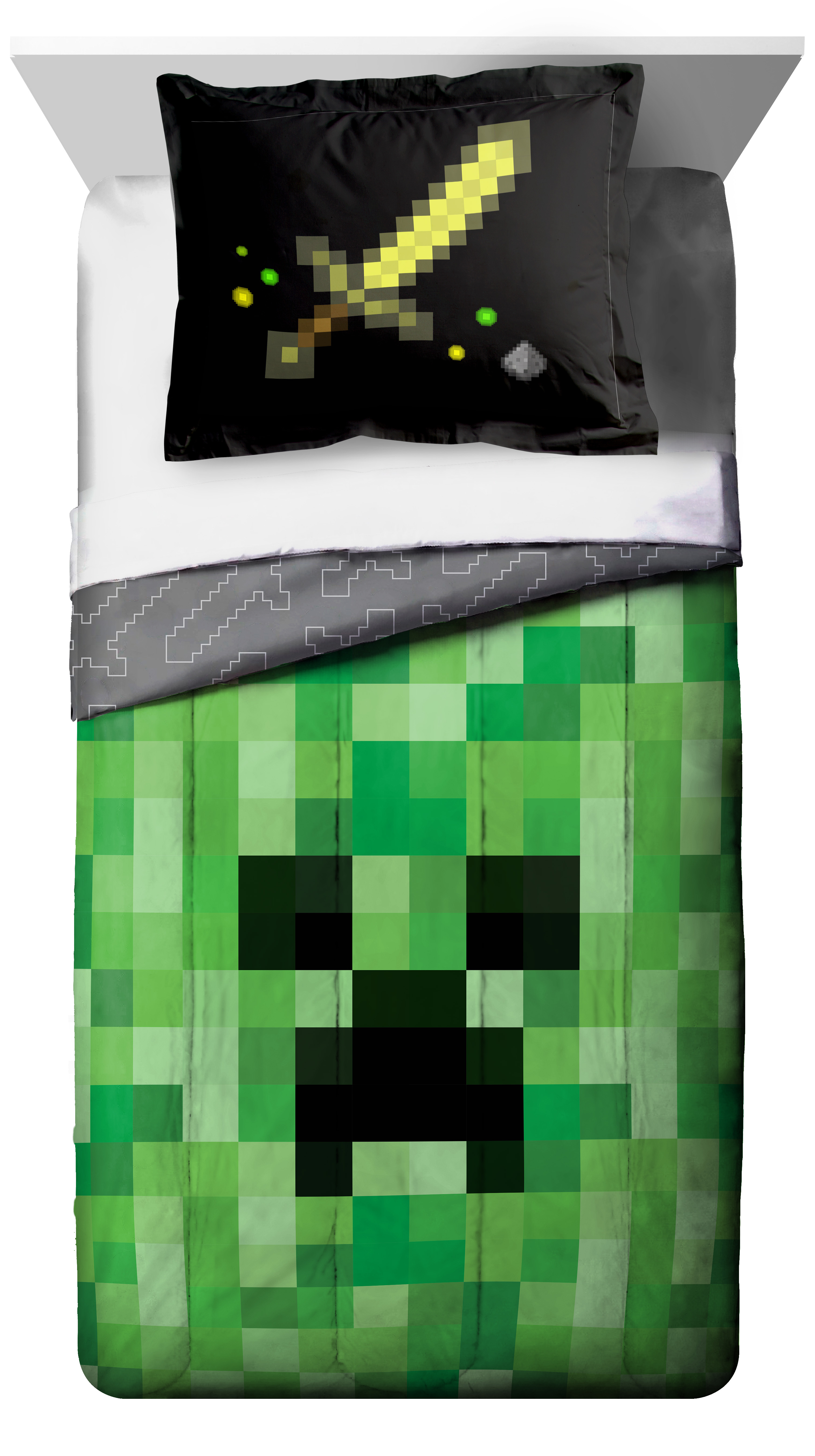 Minecraft 2 Piece Twin Full Comforter and Sham, Kid's Bedding by Jay Franco